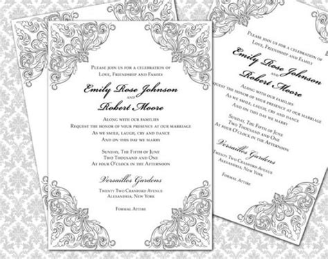 Diy Wedding Invitation Printable Template 5x7 Invitation 2295980 Weddbook 5x7 Wedding Invitation Template
