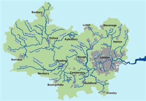 river thames catchment area map river thames and boaty things