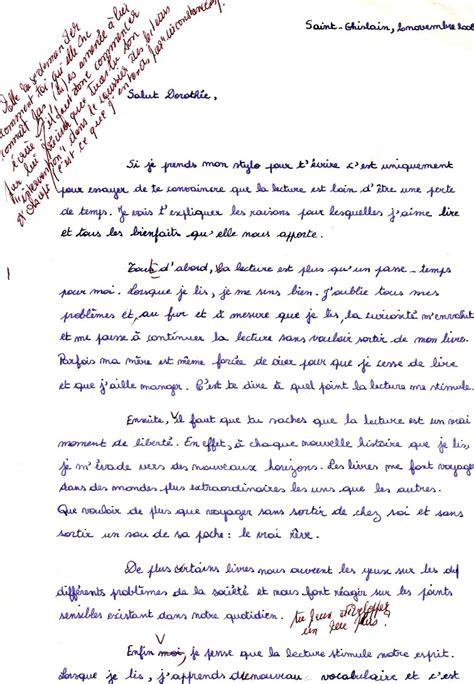 Exemple De Lettre Argumentative Corrections Lettre Argumentative