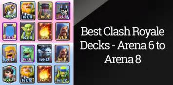 Best clash royale deck arena 6 7 8 updated