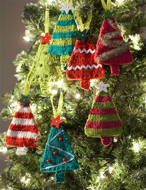 tiny tree ornaments allfreeknitting com