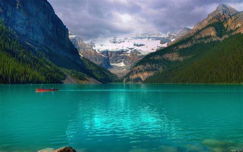 emerald lake louise canada wallpaper nature