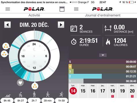 polar flow mobile app test du polar a360 premier capteur cardio optique de polar