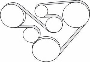 2006 2007 subaru b9 tribeca h6 3 0l serpentine belt diagram serpentinebelthq