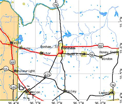 map of bonham texas bonham texas tx 75418 75438 profile population maps real estate averages homes