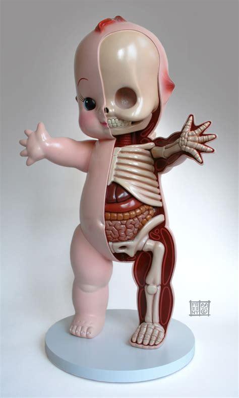 kewpie 3d model character anatomy sculptures by jason freeny