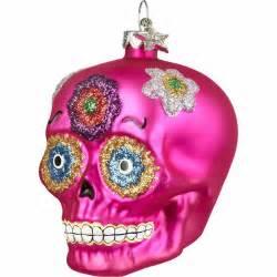 pink sugar skull ornament dia de los muertos pinterest