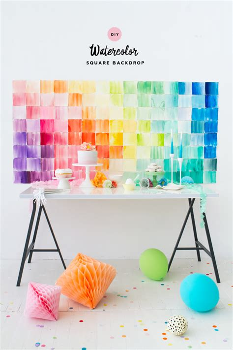 How To Make Watercolor Paper - diy watercolor paper squares backdrop