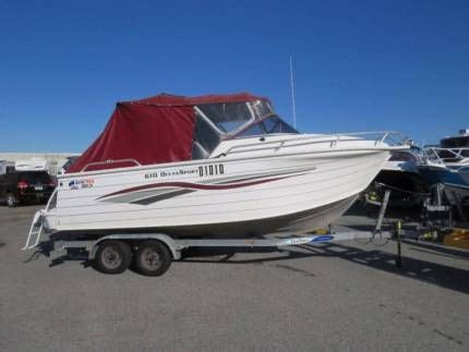 gumtree offshore boats quintrex 610 ocean sport four stroke great offshore family