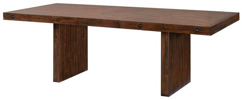 montague rustic brown extendable rectangular dining table