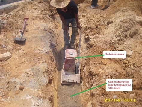 buried cable installation electrical installation wiring pictures underground