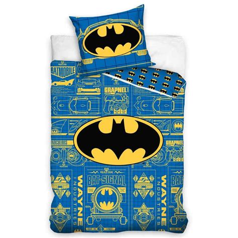 Batman Quilt Cover by Batman Logo Blue Single Quilt Cover Bedding