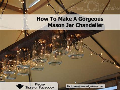 how to make a mason jar l how to make a gorgeous mason jar chandelier