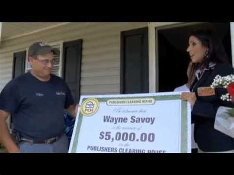 Winner Of Pch - publishers clearing house winner wayne savoy of la june 2012 youtube