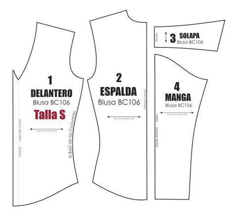 molde camisa dama molde de costura gratis para blusa manga larga talla s m l