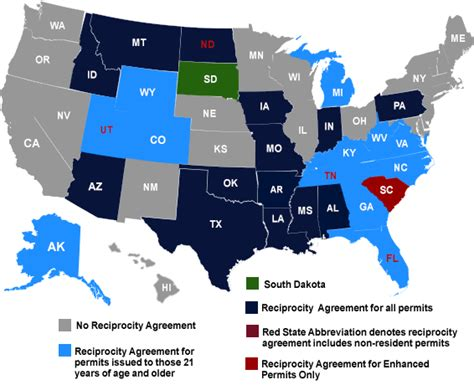 concealed carry reciprocity map alabama state