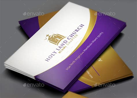 church business cards templates free card design ideas