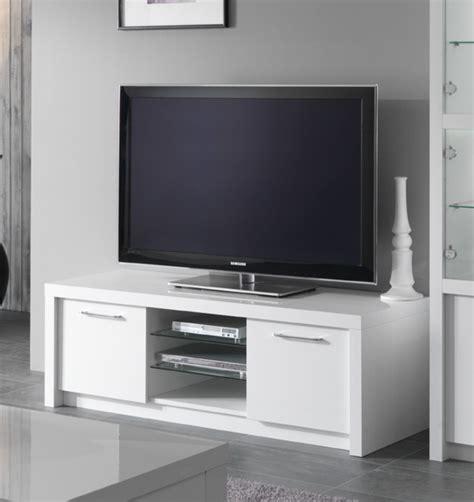 meubles tv meuble tv plasma fano laque blanc brillant blanc l 150 x h 50 x p 50