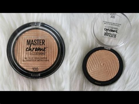 Maybelline Master Chrome maybelline master chrome highlighter review demo