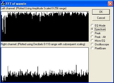 spectrum mp3 fft of wavein audio signals codeproject