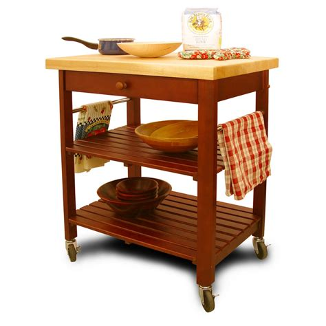 cherry kitchen island cart kitchen cart with open slatted shelves cherry base