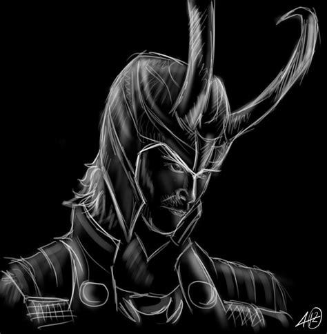White Black Sketch loki black and white sketch by ngc 7293 on deviantart