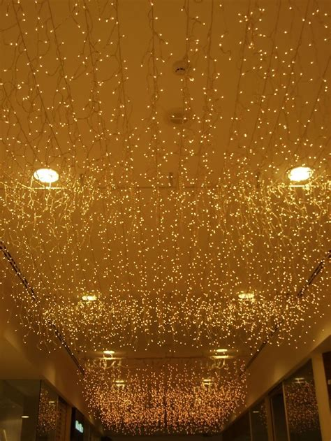 icicle lights from the ceiling this idea to set the