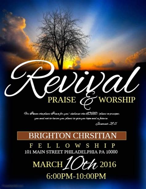 church revival flyer template free revival template postermywall