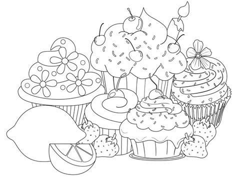 coloring pages for cupcakes cupcake coloring pages bestofcoloring com