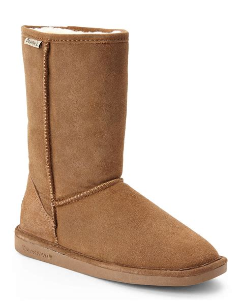 bearpaw suede boots in brown lyst