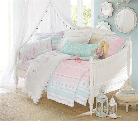 pottery barn kids bed bailey ruffle quilted bedding pottery barn kids