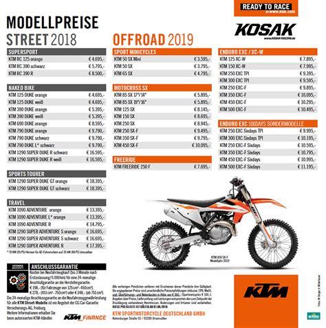 Ktm Motorrad Preisliste 2018 by Ktm 690 Duke 2018 Ktm Kosak
