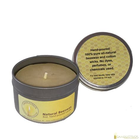 Candle Tins Beeswax Travel Tin Candle Candlestock
