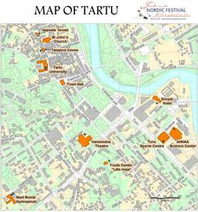 map od map of tartu 187 nordic festival tartu 2011