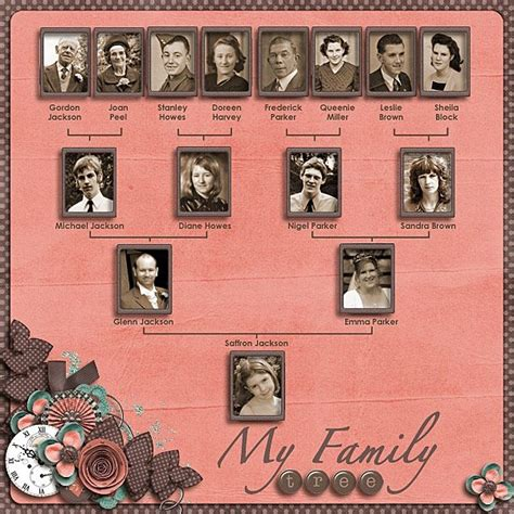 family tree layout layout scrapbook heritage by glenda