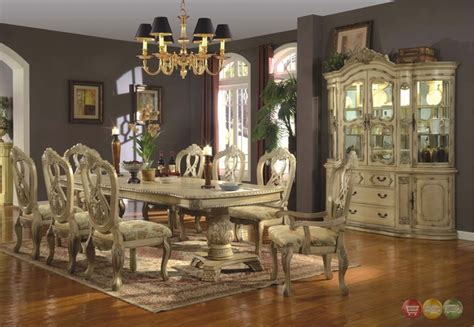 white dining room sets formal whitehall formal dining pedestal table