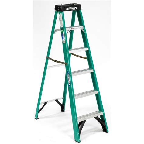 shop werner 6 ft fiberglass type 2 225 lbs step ladder