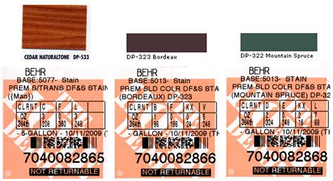 home depot paint label randsco paint colors