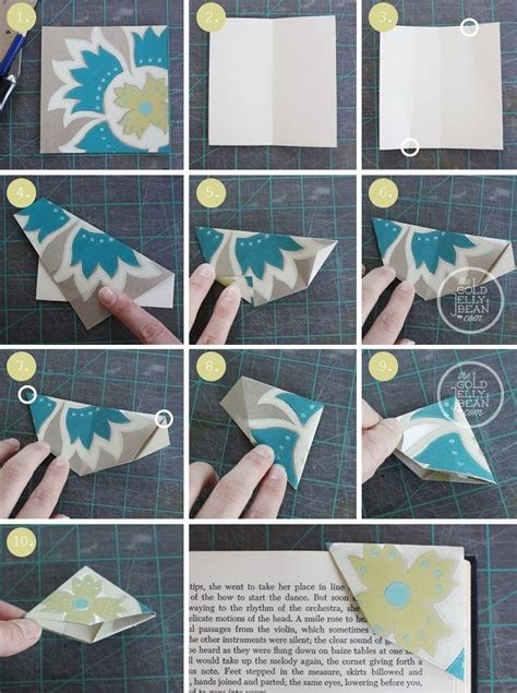 Origami Bookmark Tutorial - 197 best images about marcalibros o marcap 225 on