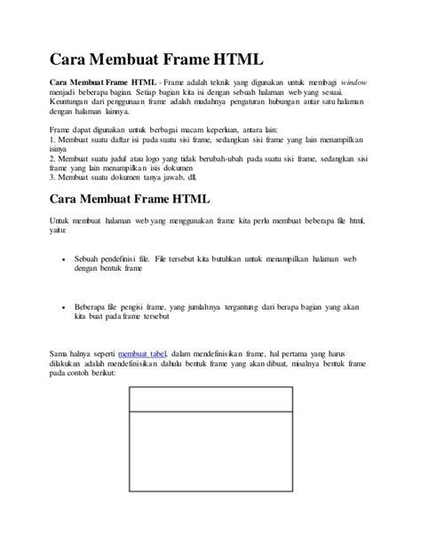 cara membuat frame quadcopter cara membuat frame html