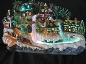 avon christmas fiber optic holiday village 2003 retired no