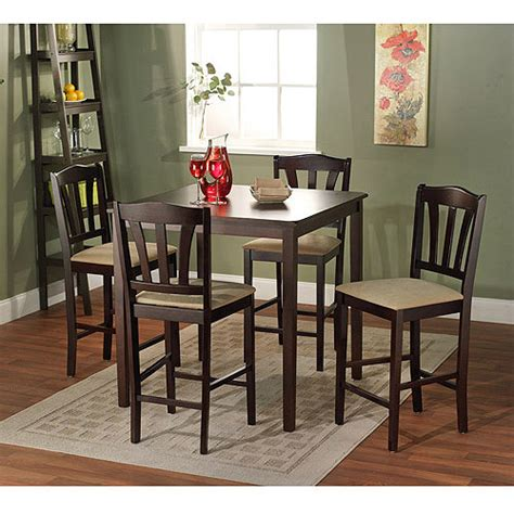 metropolitan 6 piece dining set with bench espresso espresso pub height table designer tables reference