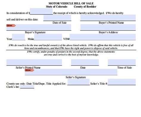boat trailer registration in texas free colorado boat trailer bill of sale form pdf word