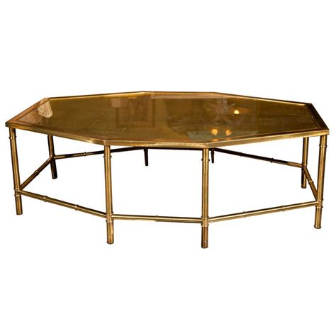 Octagon Coffee Table Faux Bamboo Style Octagonal Coffee Table At 1stdibs
