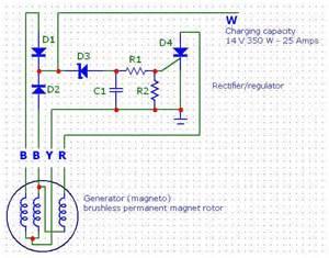 bmw d12 marine diesel rectifier regulator project