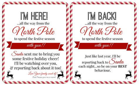 Free Printable Elf On The Shelf I M Back Letter | free elf on a shelf printables super busy mum