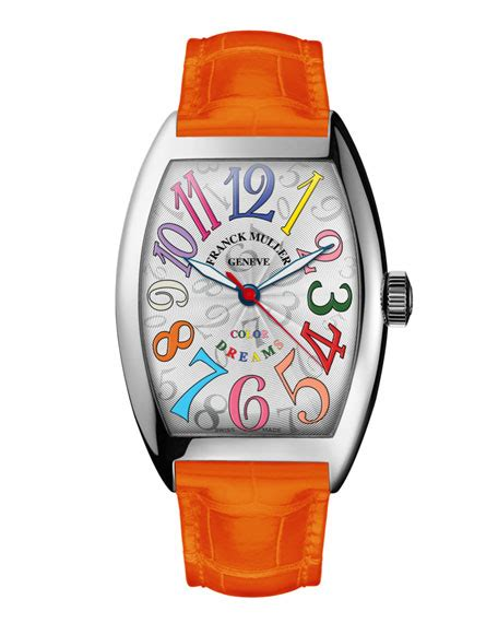 Frank Muller Orange Rosegold franck muller color dreams curvex with