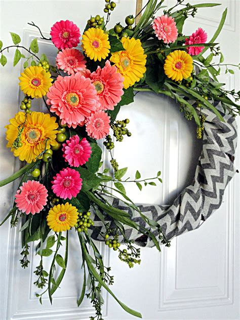 Wreaths Awesome Flower Wreaths For Front Door Flower Cheap Wreaths For Front Door
