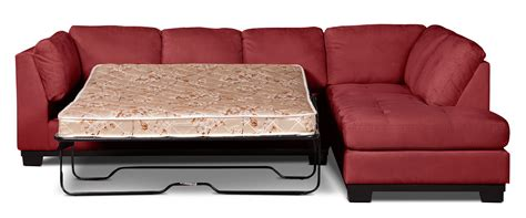 the brick sofa bed sectional oakdale 2 piece microsuede right facing sectional with