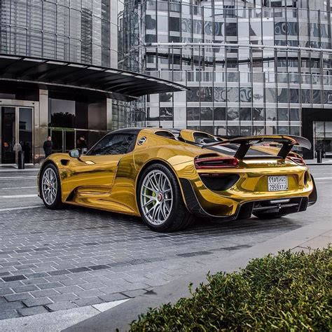 gold porsche 918 porsche 918 in gold chrome topautolist porsche 918